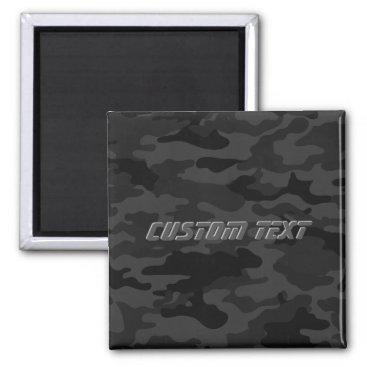 Black Camouflage Magnet