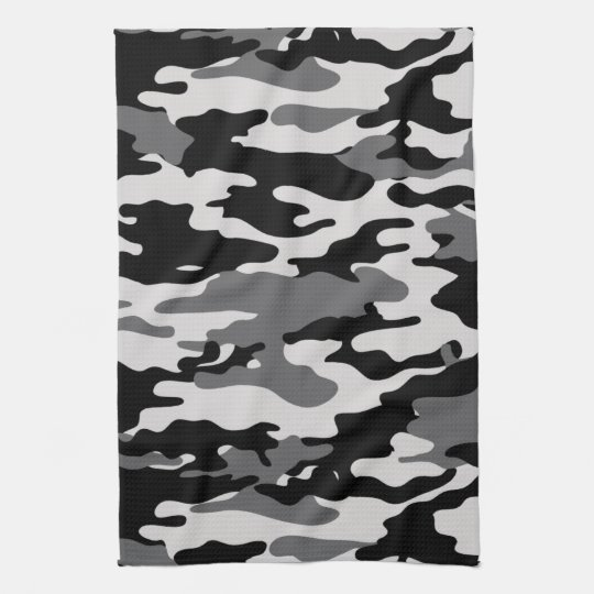 Black Camouflage Towels