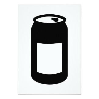 Black can 3.5x5 paper invitation card