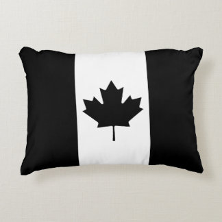 Black Canadian Flag Accent Pillow