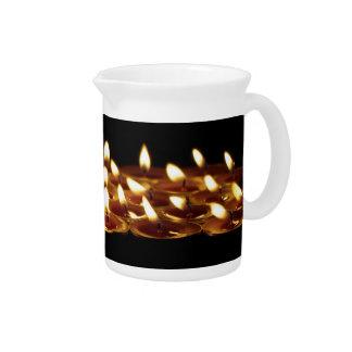 Black Candles Beverage Pitcher