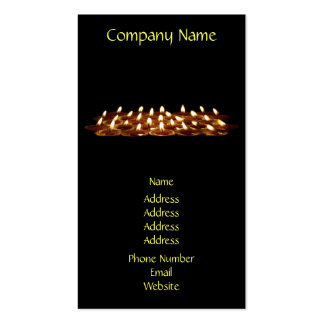 Black Candles Double-Sided Standard Business Cards (Pack Of 100)