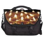Black Candles Laptop Messenger Bag