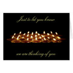 Black Candles Thinking of You Card