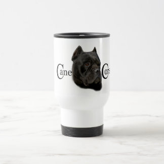 Black Cane Corso 15 Oz Stainless Steel Travel Mug