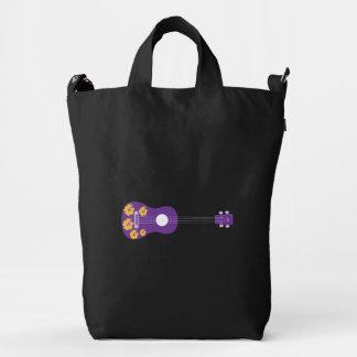 Black Canvas Ukulele Back Pack Duck Bag