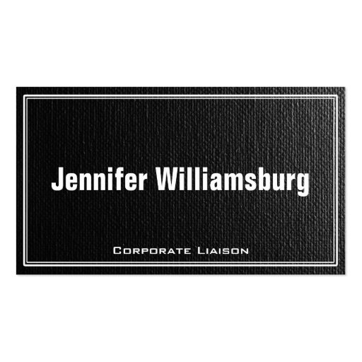 Black Canvas W/ Border Professional Business Card Business Card Template