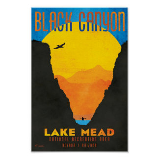 Black Canyon at Lake Mead NRA Poster