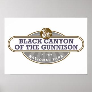 Black Canyon Gunnison National Park Poster