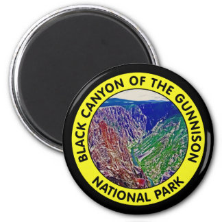 Black Canyon of the Gunnison National Park 2 Inch Round Magnet