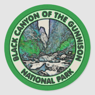 Black Canyon of the Gunnison National Park Classic Round Sticker