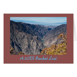 Black Canyon of the Gunnison New Years Card