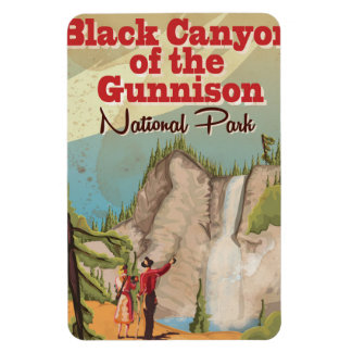 Black Canyon of the Gunnison Vintage Travel Poster Magnet