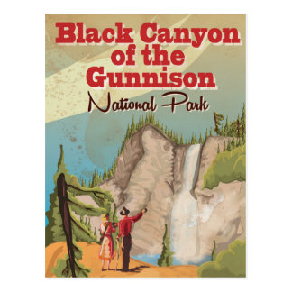 Black Canyon of the Gunnison Vintage Travel Poster Postcard