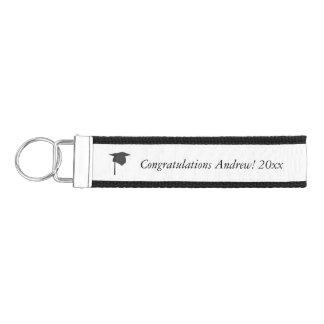 Black Cap Tassel Add Year Name Graduation KeyChain Wrist Keychain