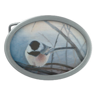 Black Capped Chickadee Belt Buckle