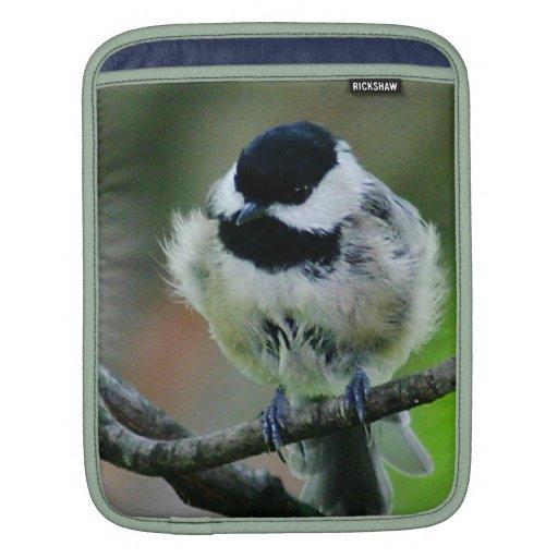 Black Capped Chickadee Bird iPad Sleeve