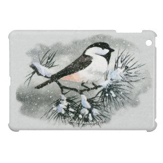 Black Capped Chickadee Bird Irregular Edges iPad Mini Case