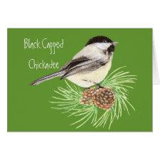 Black Capped Chickadee - Bird - Nature card