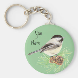 Black Capped Chickadee - Bird - Nature Keychain