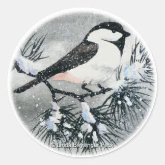 Black Capped Chickadee Bird Sticker