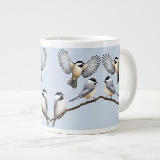 Black Capped Chickadee Birds Specialty Mugs 20 Oz Large Ceramic Coffee Mug