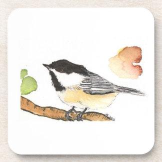 Black Capped Chickadee Coaster