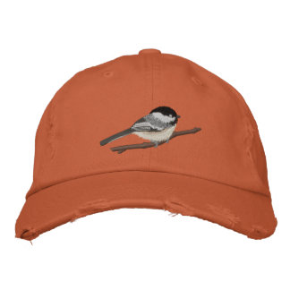 Black-capped Chickadee Embroidered Baseball Hat