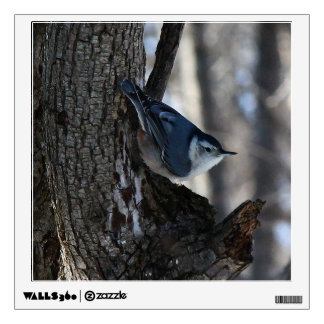 Black Capped Chickadee In Tree Wall Decal