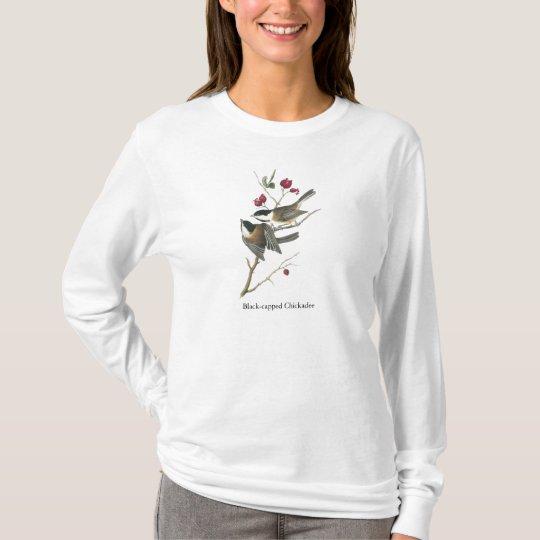 Black-capped Chickadee, John Audubon T-Shirt