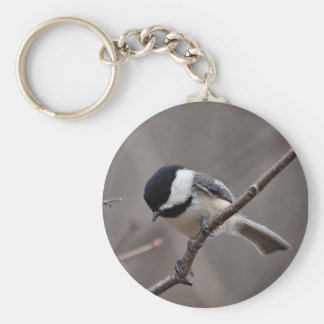 Black Capped Chickadee Keychain