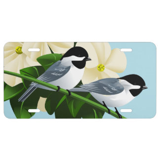 Black Capped Chickadee License Plates
