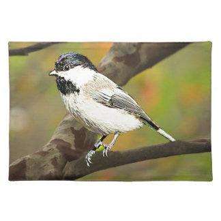 Black Capped Chickadee (Maine and Massachusetts).j Cloth Placemat