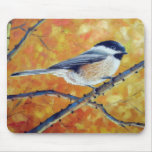 BLACK-CAPPED CHICKADEE MOUSE PAD