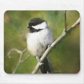 Black Capped Chickadee Mouse Pad Mousepads