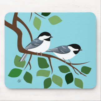 Black Capped Chickadee Mousepads