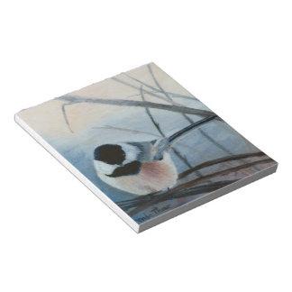 Black Capped Chickadee Notepad