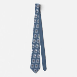 Black Capped Chickadee Oval Repeat Tie