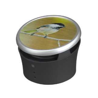 Black-Capped Chickadee Perched In Cottonwood Bluetooth Speaker