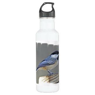 Black Capped Chickadee 24oz Water Bottle