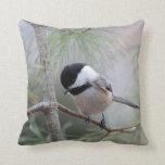 Black-capped chickadee pillow