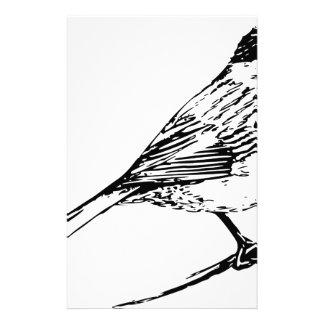 Black Capped Chickadee Stationery