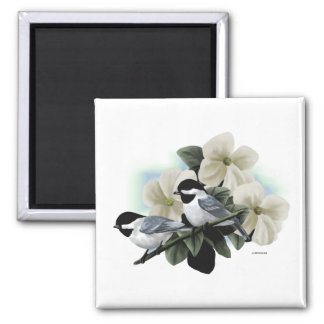 Black Capped Chickadees Refrigerator Magnets