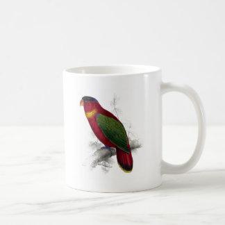 Black-Capped Lory by Edward Lear Coffee Mug
