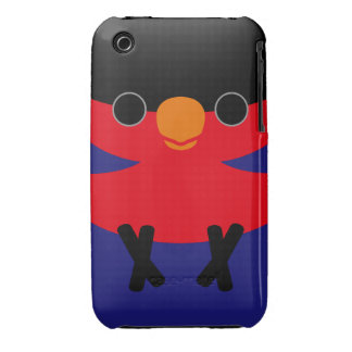 Black-capped Lory Case-Mate iPhone 3 Cases