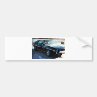 Black Car Bumper Sticker