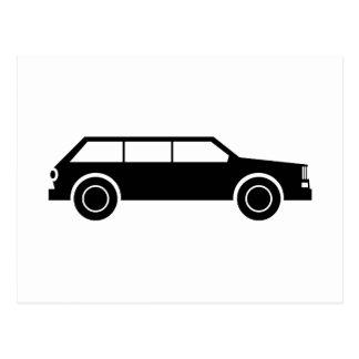 Black Car Postcard