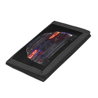 black car, red lights tri-fold wallet