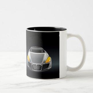 Black car Two-Tone coffee mug