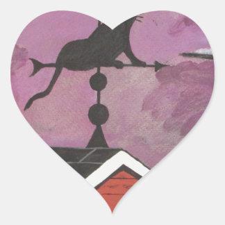 Black Car Weathervane Heart Sticker